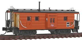 Fox Low-Window Rib-Side Caboose Milwaukee Road #992 N Scale Model Train Freight Car #91020