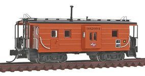 Fox Low-Window Rib-Side Caboose Milwaukee Road #992 N Scale Model Train Freight Car #91022