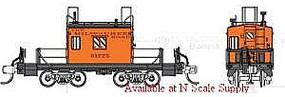 Fox Milwaukee Road Transfer Caboose #2 N Scale Model Train Freight Car #91152