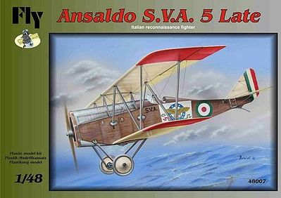 Fly Models Ansalso SVA 5 Late Italian Recon Fighter BiPlane -- Plastic Model Airplane Kit -- 1/48 -- #48007