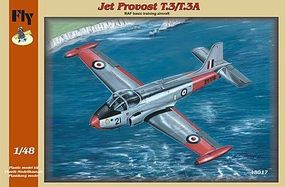 Fly-Models T3/T3A Jet Provost British Basic Training Aircraft Plastic Model Airplane Kit 1/48 #48017