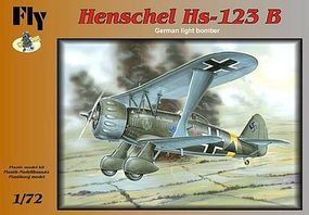 Fly-Models Henschel Hs123B German BiPlane Light Bomber Plastic Model Airplane Kit 1/72 Scale #72010