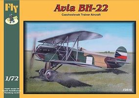 Fly-Models Avia BH22 ACzezh Trainer BiPlane Plastic Model Airplane Kit 1/72 Scale #72016