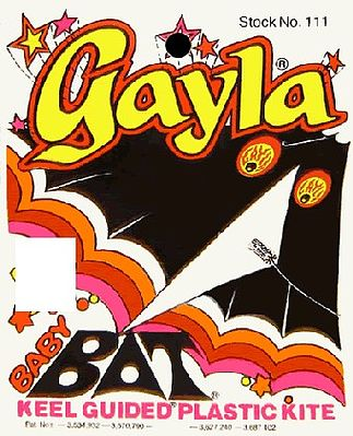 Gayla Industries 42''x22'' Baby Bat Delta Wing Kite -- Single-Line Kite -- #111