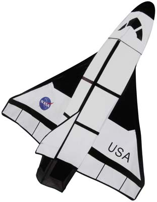 Gayla Industries 40''x48'' Space Shuttle 3-D Nylon Kite -- Single-Line Kite -- #1327