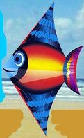 Gayla 52x28 Sun Fish Designer Delta Kite Single-Line Kite #226