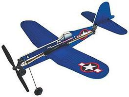 Gayla 11 Wingspan F4U Corsair Rubber Band Pwd Wood Glider Kit