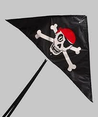 Gayla Industries 50''x24'' Skull N Cross Bones Constellation Delta Nylon Kite -- Single Line Kite -- #940