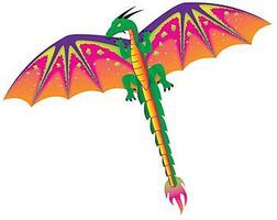 Gayla 55x45 Dragon 3-D Nylon Kite Single-Line Kite #961