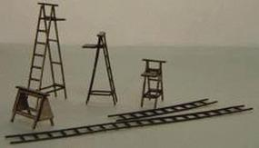 GCLaser Ladders Kit (Laser-Cut Wood) - Builds 22 Various Items N Scale Model Railroad #1101