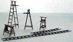 GCLaser Ladders Kit (Laser-Cut Wood) - Builds 22 Various Items HO Scale Model Kit #11101
