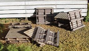 GCLaser Pallets Kit (24) HO Scale Model Railroad Building #11105