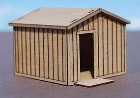 GCLaser Storage Shed Kit (Laser-Cut Wood) 1-7/8 x 2-1/8 x 1-7/16 HO Scale Model #11391