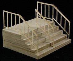 GCLaser Double-Wide Stair The Cube Modular System Component Kit HO Scale #11604