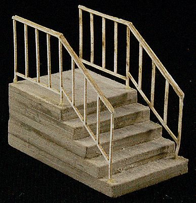 GC Laser Single-Wide Stair -- The Cube Modular System Component Kit -- HO Scale -- #11607