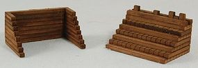 GCLaser Wood Track Bumpers Kit (Laser-Cut Architectural Card) pkg(2) HO-Scale #1182