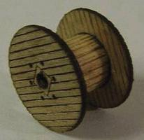 GCLaser Empty Cable Reel 6-Pack (Laser-Cut Wood Kit) N Scale #119