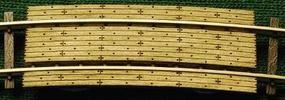 GCLaser Grade Crossing pkg(2) 11 Radius Curve Fits Code 100 Rail N Scale Model Railroad #1273
