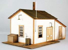 GCLaser Pump House #2 Laser-Cut Card Kit HO-Scale Model Building #19011