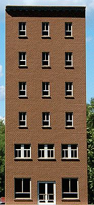 GC Laser 6-Story Flat Window Office Backdrop Kit -- HO Scale Model Building -- #190221