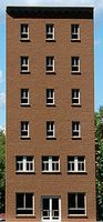 GCLaser 6-Story Flat Window Office Backdrop Kit HO Scale Model Building #190221