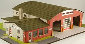 GCLaser Village Hall & Volunteer Fire Dept. Kit HO-Scale Model Building #19037