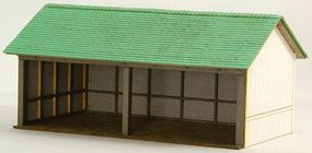GCLaser Elfering Farm #5 Open Shed Kit HO-Scale Model Building #19039