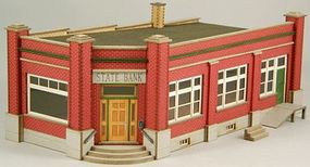 GCLaser State Bank Kit HO Scale Model Building #19040