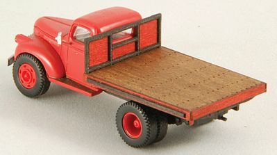 GC Laser Flat Truck Bed (Laser-Cut Wood Kit) -- HO Scale Vehicle Accessory -- #19047