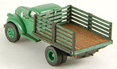 GC Laser Stake Truck Bed (Laser-Cut Wood Kit) -- HO Scale Vehicle Accessory -- #19048