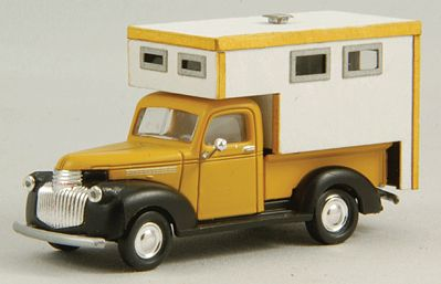 GC Laser Camper Pickup Truck Bed Kit (Laser-Cut Wood) -- HO Scale Vehicle Accessory -- #19051