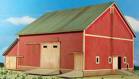 GCLaser Barn (Red) Farm Series #6 Kit HO Scale Model Railroad Building #190822