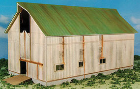 GCLaser Barn (white) Farm Series #7 Kit HO Scale Model Railroad Building #190823