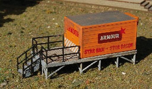 GC Laser Cold Storage Platform Kit (Laser-Cut Wood) -- N Scale & Cold Storage Platform Kit (Laser-Cut Wood) N Scale Model Accessory ...