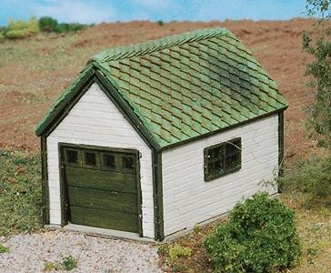 GC Laser 1-Car Garage (Laser-Cut Wood Kit) -- N Scale Model Railroad Accessory -- #247