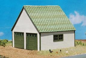 GCLaser 2-Car Garage (Laser-Cut Wood Kit) N Scale Model Railroad Accessory #248