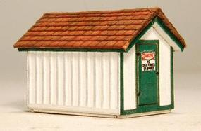 GCLaser Gas House Kit (Laser-Cut Wood) N Scale Model Railroad Accessory #294
