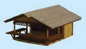 GCLaser Country Market Kit (Laser-Cut Wood) N Scale Model Building #309