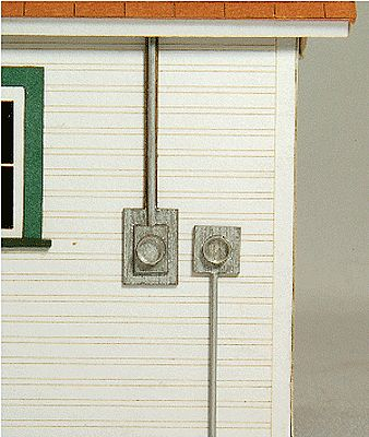 GC Laser Meter Socket 4-Pack Kit (2 Styles) -- O Scale Model Railroad Building Accessory -- #31011