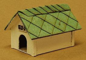 GCLaser Dog House pkg(2) Kit (Laser-Cut Wood) O Scale Model Accessory #3159