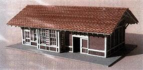 GCLaser Elmhurst Depot Kit (Laser-Cut Wood) N Scale Model Railroad Building #332