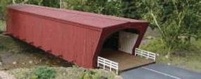 GCLaser Covered Bridge Kit (Laser-Cut Wood) N Scale Model Railroad Accessory #418