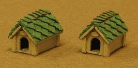 GCLaser Dog House pkg(2) Kit (Laser-Cut Wood) Z Scale Model Railroad Accessory #5145