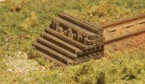 GCLaser Stacked Ties Track Bumper pkg(4) Kit (Laser-Cut Wood) Z Scale Model Railroad Accessory #5182