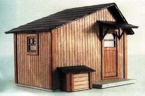 GCLaser Tool Shed pkg(2) Kit (Laser-Cut Wood) Z Scale Model Building #5201