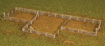GC Laser Fence & Gate Sections Kit -- 18 Linear Inches of Fence w/4 Gate Sections -- Z Scale Model -- #5284