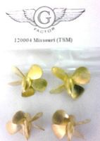 G-Factor USS Missouri Brass Propellers for Trumpeter Plastic Model Ship Accessory 1/200 #120004