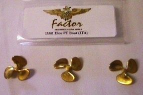 G-Factor Elco PT Boat Brass Propellers for Italeri Plastic Model Ship Accessory 1/35 Scale #13501