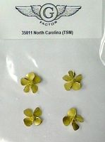 G-Factor USS North Carolina Brass Propellers for Trumpeter Plastic Model Ship Parts 1/350 #35011