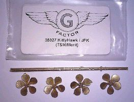 G-Factor USS Kitty Hawk Aircraft Carrier Brass Propellers Ship Accessory 1/350 Scale #35027
